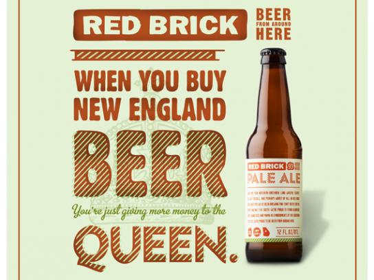 Red Brick Print Ad -  The Queen