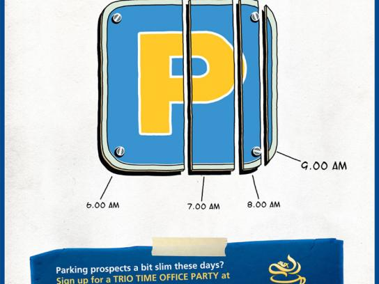 Maxwell Print Ad -  Parking sign