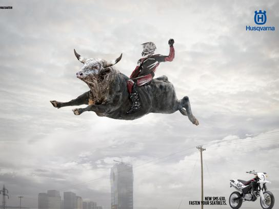 Husqvarna Print Ad -  Fly Bull