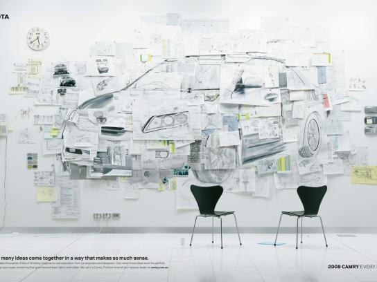 Toyota Print Ad -  Pinboard