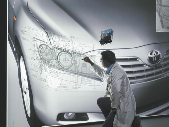Toyota Print Ad -  Projection room