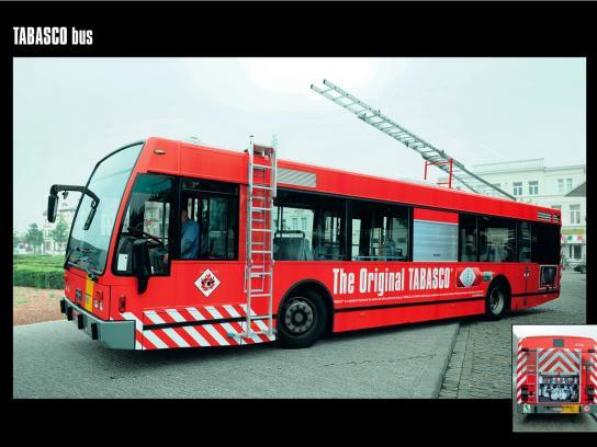 Tabasco Ambient Ad -  Bus