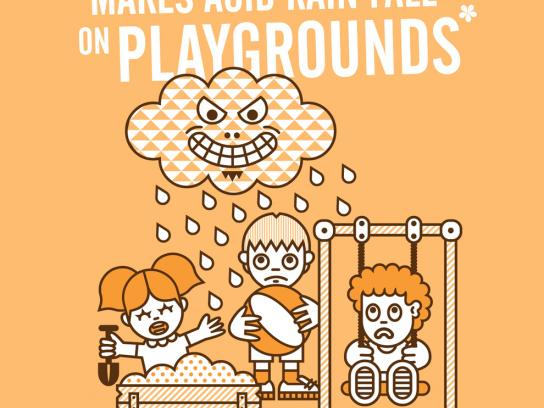 Tappening Print Ad -  Start a Lie, Playgrounds