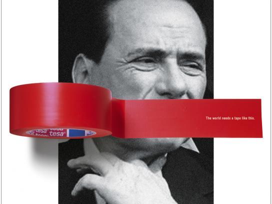 Tesa Print Ad -  Berlusconi