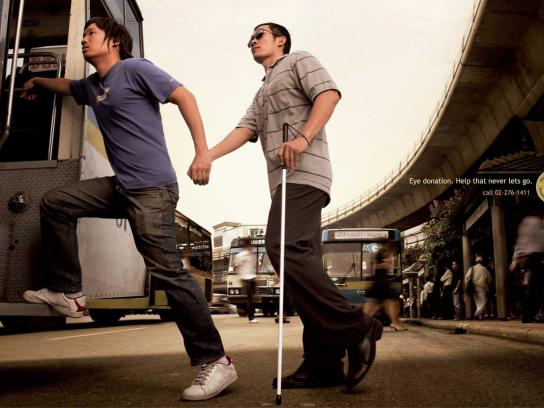 Thailand Caulfield Foundation for the Blind Print Ad -  Bus
