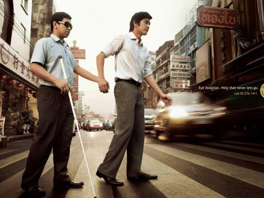 Thailand Caulfield Foundation for the Blind Print Ad -  Crosswalk