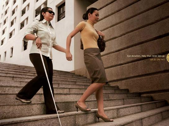 Thailand Caulfield Foundation for the Blind Print Ad -  Stairs