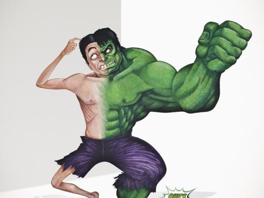 Samsung Print Ad -  The Hulk
