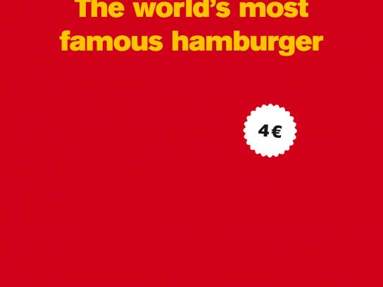McDonald's Print Ad -  The world's most famous hamburger