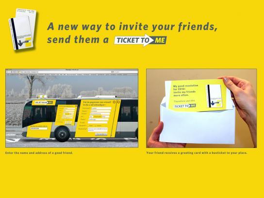 De Lijn Ambient Ad -  Ticket-to-me