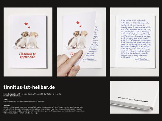 tinnitus-ist-heilbar.de Direct Ad -  Greeting card
