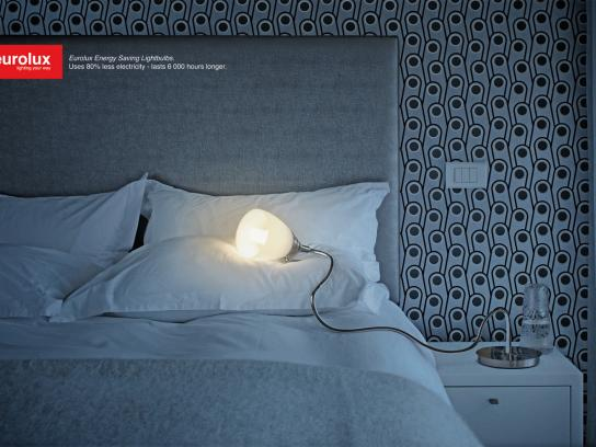 Eurolux Print Ad -  Tired bed lamp
