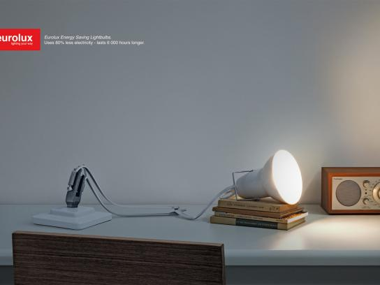 Eurolux Print Ad -  Tired desk lamp