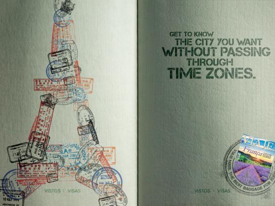 Viaje Mais Print Ad -  Eiffel Tower