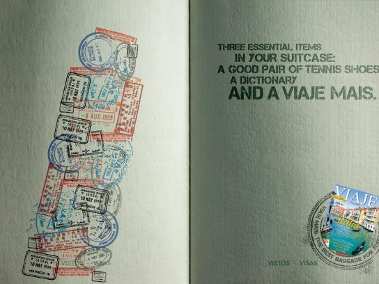 Viaje Mais Print Ad -  Tower of Pisa