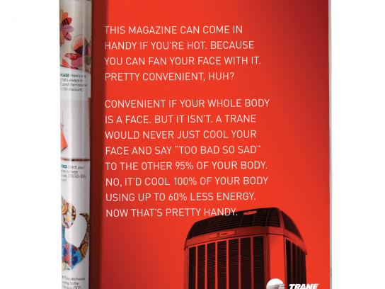 Trane Print Ad -  Fan Your Face