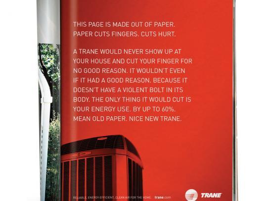Trane Print Ad -  Paper Cuts