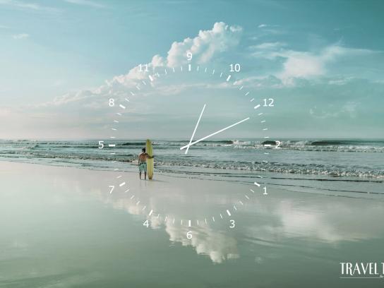 Travel Time Print Ad -  Beach