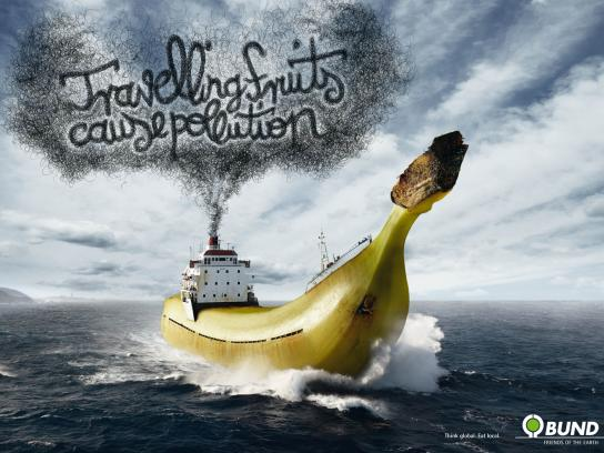 Friends of the Earth Print Ad -  Travelling Fruits, Banana