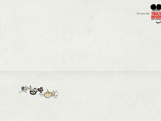 Truly Nolen Print Ad -  Bicycle