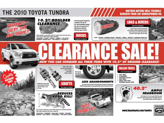 Toyota Print Ad -  Clearance