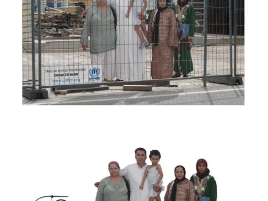 UNHCR Ambient Ad -  Cardboard refugees