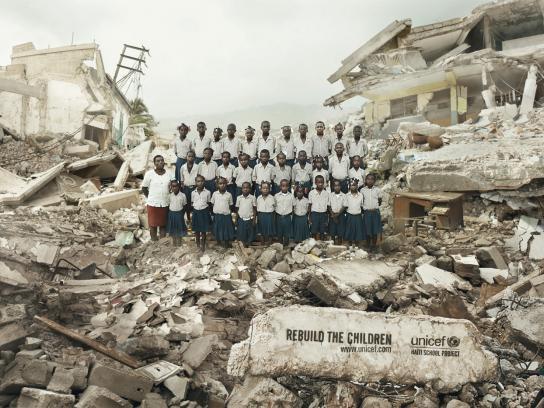 Unicef Print Ad -  Haïti School Project