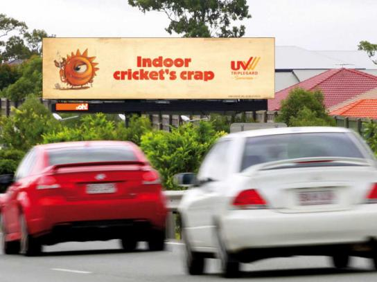 UV Tripleguard Outdoor Ad -  Cricket