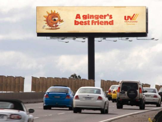 UV Tripleguard Outdoor Ad -  Ginger