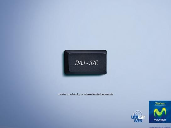 Movistar Print Ad -  Number plate