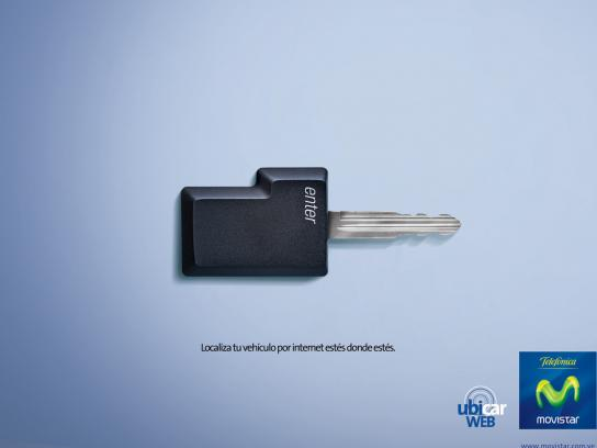 Movistar Print Ad -  Keys