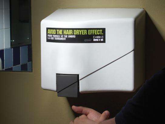 Umbro Ambient Ad -  Hand dryer