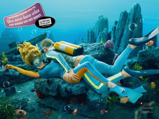 Love Life Stop Aids Print Ad -  Undersea