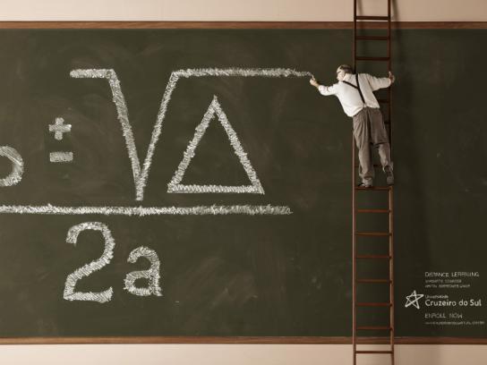 Cruzeiro do Sul University Print Ad -  Blackboard