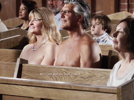 The United Church of Canada Print Ad -  Nudists