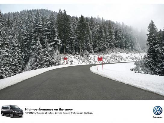 Volkswagen Print Ad -  Ski run