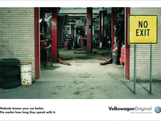 Volkswagen Print Ad -  No exit sign
