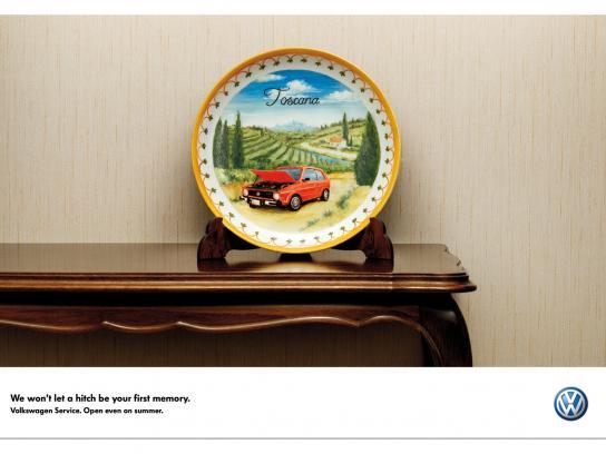 Volkswagen Print Ad -  Souvenir, Toscana