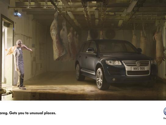 Volkswagen Print Ad -  Meat locker