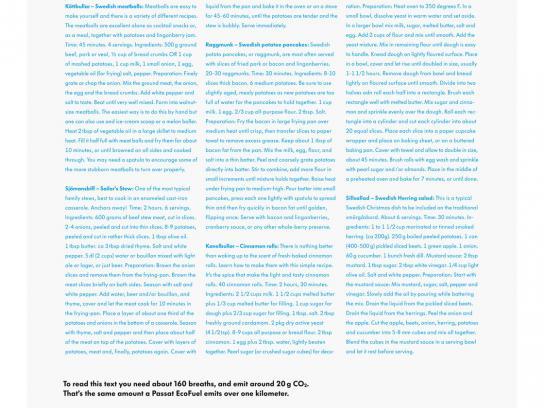 Volkswagen Print Ad -  Human emissions, Recepies