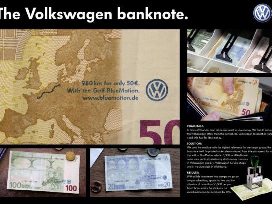 Volkswagen Ambient Ad -  Note