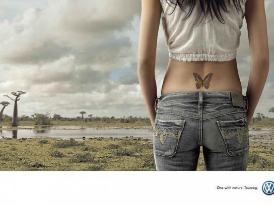 Volkswagen Print Ad -  Butterfly