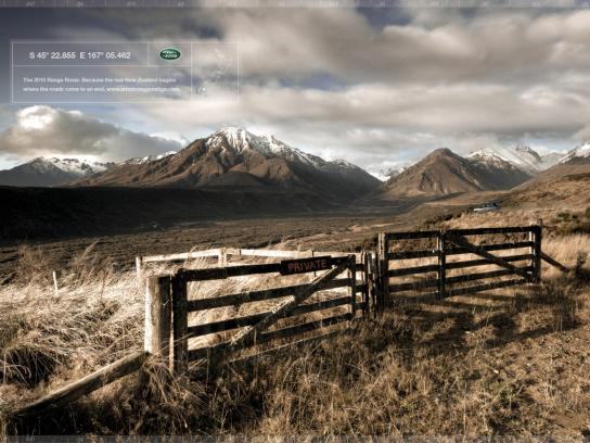 Land Rover Print Ad -  Valley