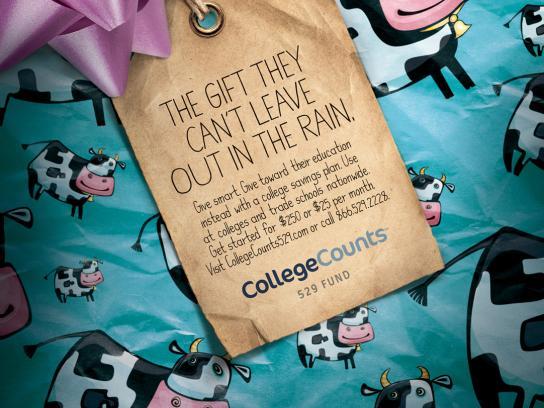 Van Kampen Print Ad -  College Counts 529 Fund  Cow