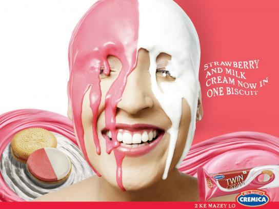 Cremica Print Ad -  Strawberry & Milk