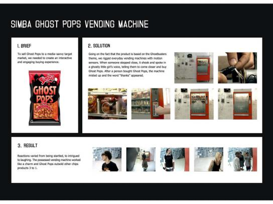Ghost Pops Ambient Ad -  Vending machine