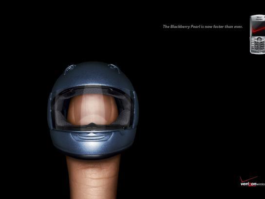 Verizon Print Ad -  Helmet