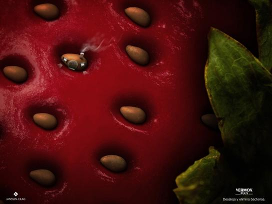 Vermox Print Ad -  Strawberry