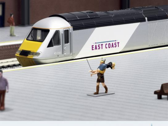 East Coast Trains Print Ad -  Miniature Prices, Viking