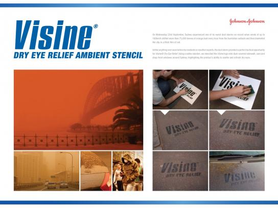 Visine Ambient Ad -  Ambient stencil
